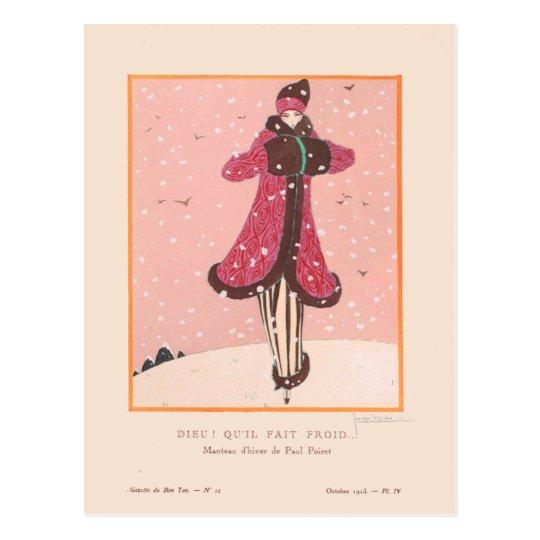 Georges Lepape Vintage Art Deco Fashion It's Cold