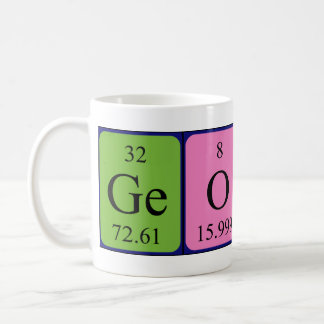 Georges periodic table name mug