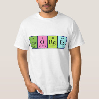 Georges periodic table name shirt