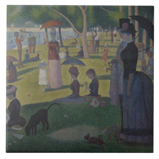Georges Seurat - A Sunday on La Grande Jatte Large Square Tile