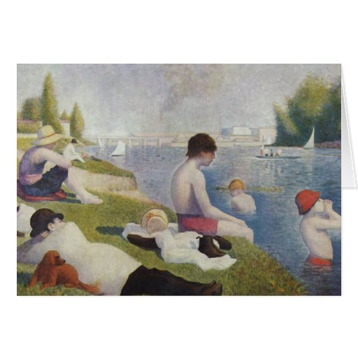 Georges Seurat - Bathers at Asnieres Cards