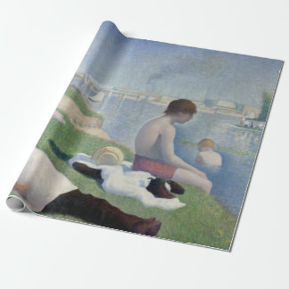 Georges Seurat Bathers at Asnières Wrapping Paper