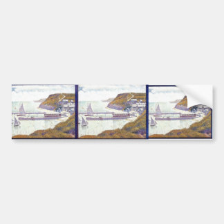 Georges Seurat- Harbour at Port-en-Bessin Bumper Sticker