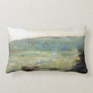 Georges Seurat Landscape at Saint-Ouen Lumbar Cushion
