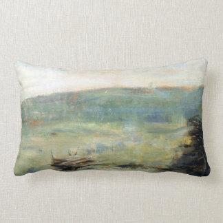 Georges Seurat Landscape at Saint-Ouen Lumbar Cushion