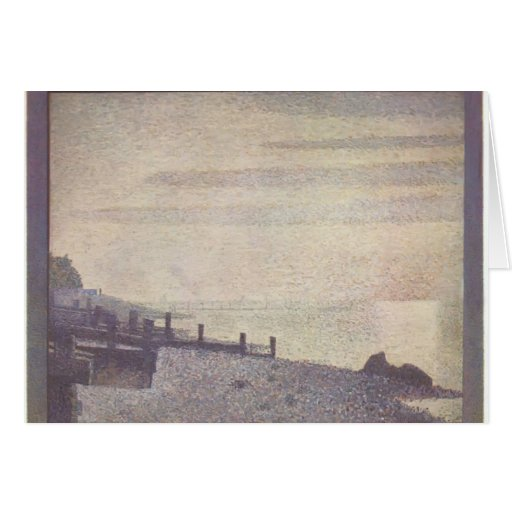 Georges Seurat- Mouth of the Seine at Honfleur Card