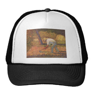 Georges Seurat- Peasant with Hoe Trucker Hat