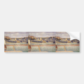 Georges Seurat- Port-en-Bessin, The Outer Harbor Bumper Stickers