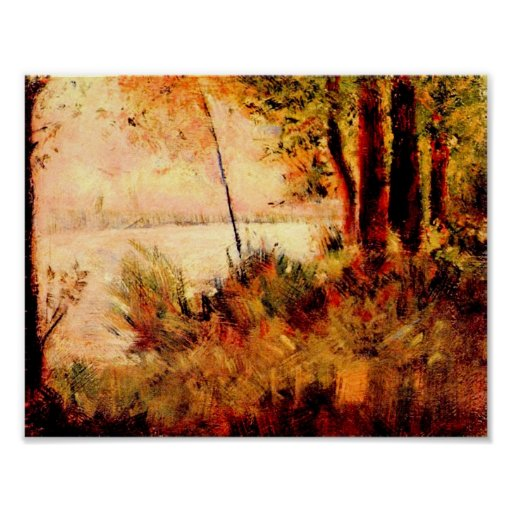 Georges Seurat-Seated slope Poster