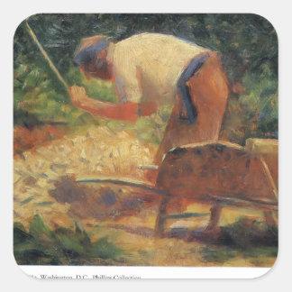 Georges Seurat- Stone Breaker and Wheelbarrow Stickers