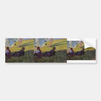 Georges Seurat- Study for l'île de la Grande Jatte Bumper Sticker
