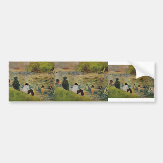 Georges Seurat- The Bank of the Seine Bumper Stickers