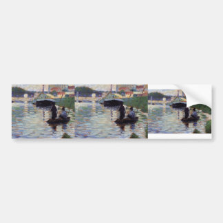 Georges Seurat- The Bridge - View of the Seine Bumper Stickers