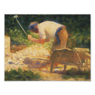 Georges Seurat - The Stone Breaker Art Photo