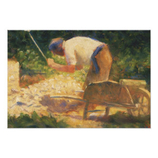 Georges Seurat - The Stone Breaker Photo Print