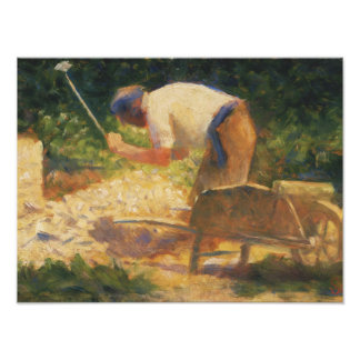 Georges Seurat - The Stone Breaker Photograph