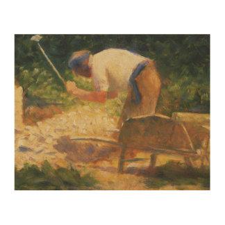 Georges Seurat - The Stone Breaker Wood Prints