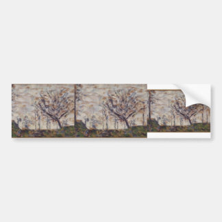 Georges Seurat- Trees, winter Bumper Sticker