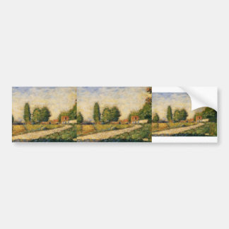 Georges Seurat- Village Road Bumper Stickers
