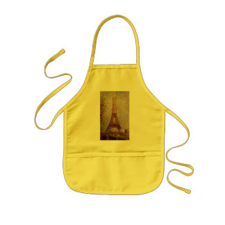 Georges Seurat's Painting: The Eiffel Tower (1889) Kids Apron