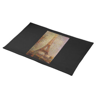 Georges Seurat's Painting: The Eiffel Tower (1889) Place Mats