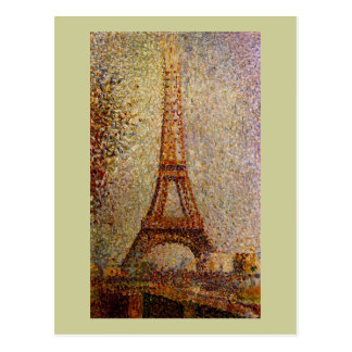 Georges Seurat's Painting: The Eiffel Tower (1889) Postcard