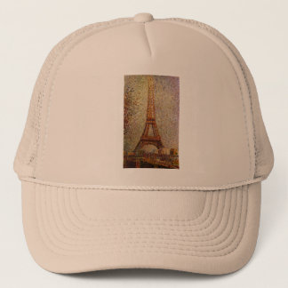 Georges Seurat's Painting: The Eiffel Tower (1889) Trucker Hat