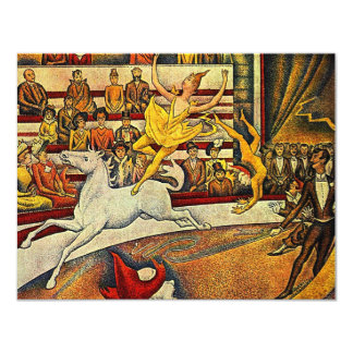 Georges Seurat's The Circus (1891) 11 Cm X 14 Cm Invitation Card