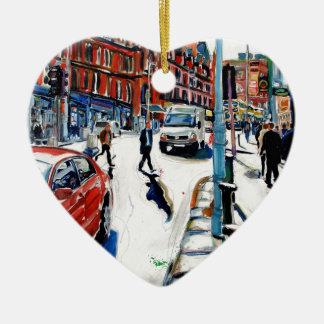 georges st dublin ceramic heart decoration