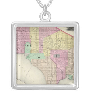 Georgetown And The City Of Washington Silver Plated Necklace