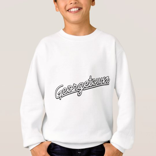 Georgetown in white sweatshirt