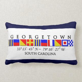 Georgetown SC Signal Flag Throw Pillow