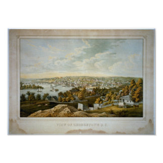 Georgetown Wash. DC 1921 Antique Panoramic Map Posters
