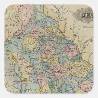 Georgia 11 square stickers