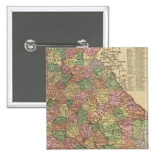 Georgia 3 15 cm square badge