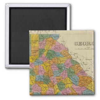 Georgia 4 square magnet
