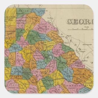 Georgia 4 square sticker