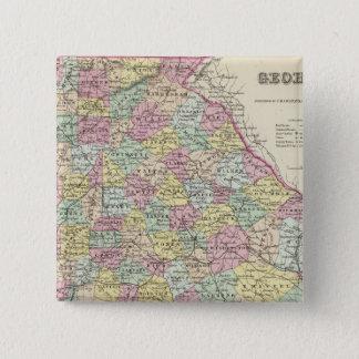 Georgia 5 15 cm square badge