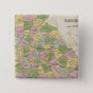 Georgia 6 15 cm square badge