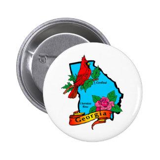 Georgia 6 Cm Round Badge