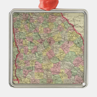 Georgia, Alabama Christmas Ornament