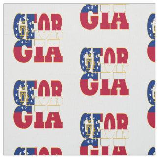 Georgia American state flag Fabric