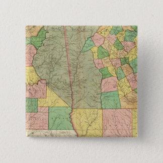 Georgia and Alabama 2 15 Cm Square Badge