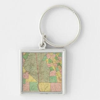 Georgia and Alabama 2 Key Ring