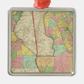 Georgia and Alabama 3 Christmas Ornament