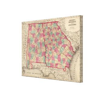 Georgia and Alabama Canvas Print