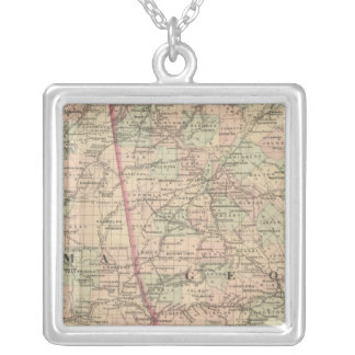 Georgia and Alabama Silver Plated Necklace