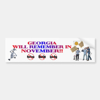 Georgia - Anti ObamaCare, New Taxes & Spending Bumper Sticker
