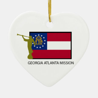 GEORGIA ATLANTA MISSION LDS CTR CERAMIC HEART DECORATION