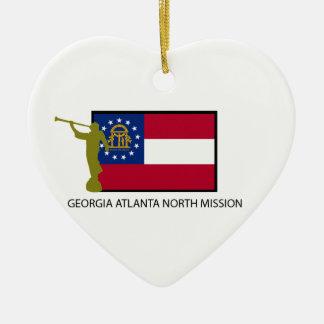 GEORGIA ATLANTA NORTH MISSION LDS CTR CERAMIC HEART DECORATION